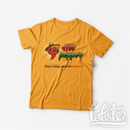"""разработали дизайн футболки для пиццерии """"Hot pepper"""""""